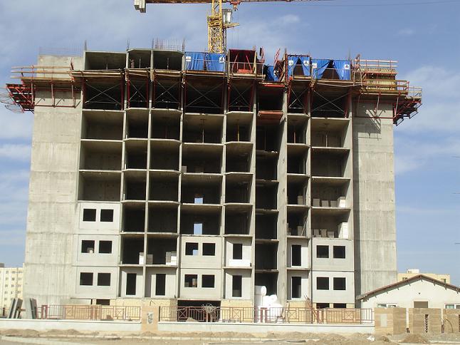 ساختمان اسکلت بتنی4- سیستم اجرای قالب تونلی